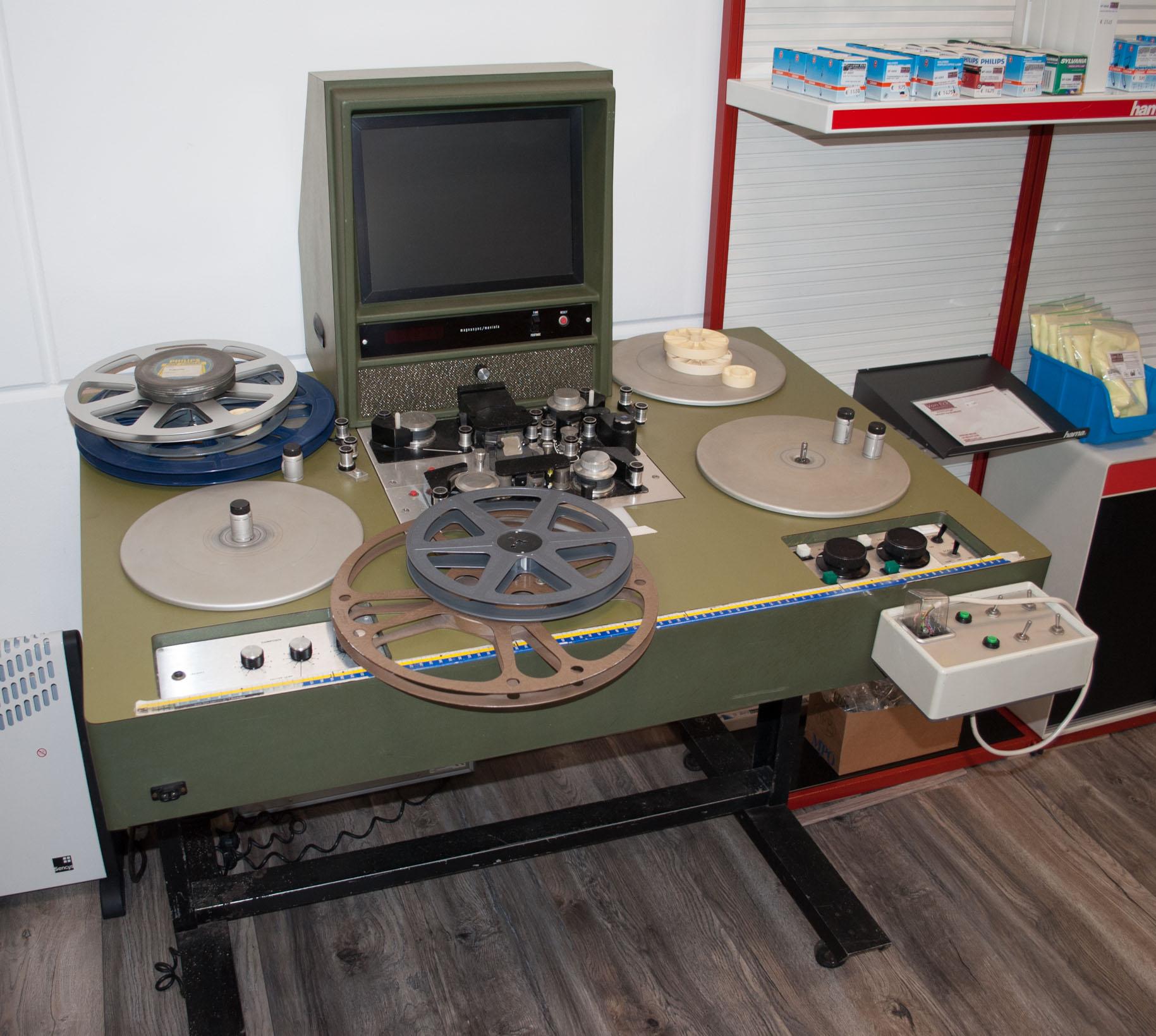 16mm film montagetafel